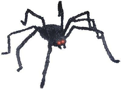 GIANT 49 inch Animated Black Spider OUTDOOR HALLOWEEN DECORATION PROP YARD HAUNT