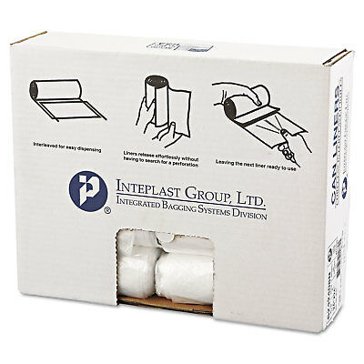 Inteplast Group High-Density Can Liner 24 x 24 10gal 8mic Clear 50/Roll 20