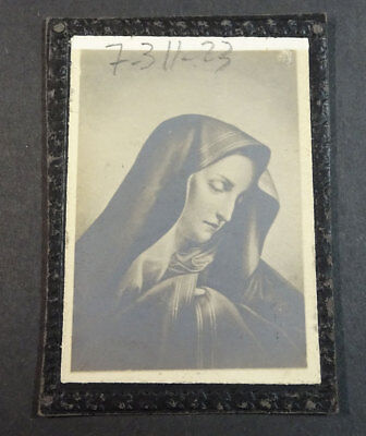Old Blessed Virgin Mary Holy Card Andachtsbild Santini Santino            Cc2150