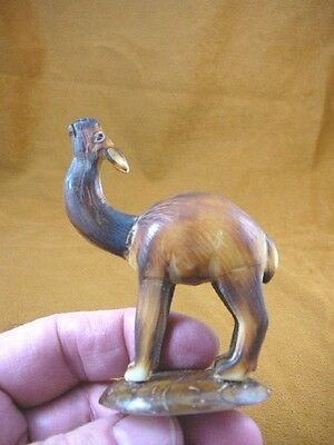 (TNE-LLA-461E) little brown baby Llama farm TAGUA NUT nuts palm figurine carving