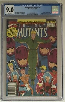 New Mutants Annual #6 NEWSSTAND CGC Graded 9.0 1st Appearance Shatterstar