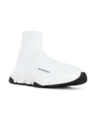 69219a8ad5eb Balenciaga Speed White Stretch Knit High-Top Trainer Sneakers 41 10.5US   750.00