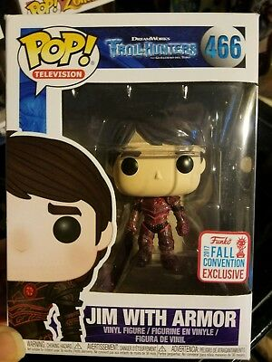 TrollHunters Jim With Red Armor 2017 NYCC #466 Exclusive Vinyl Figure FUNKO POP