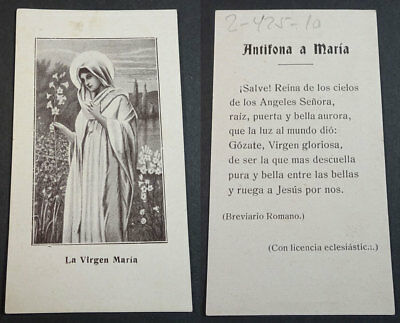 Old Blessed Virgin Mary Holy Card Andachtsbild Santini Santino            Cc2159