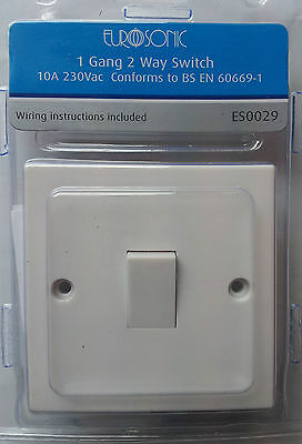 1 Gang 2 Way Switch 10A 230 Vac Complies With Bs1363 Ideal For Home And Office