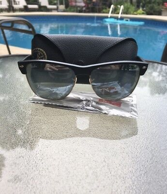 0810ce37f88 Ray Ban Clubmaster Oversized Sunglasses RB4175 877 30 57mm Silver Mirrored  Lens