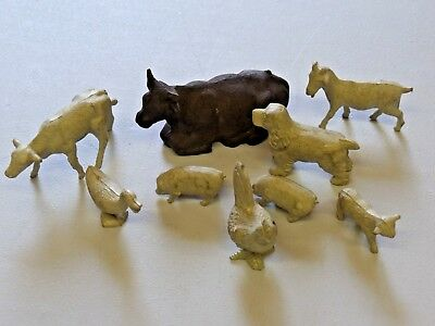 Vintage Large Lot of Marx Farm Animals 1950's