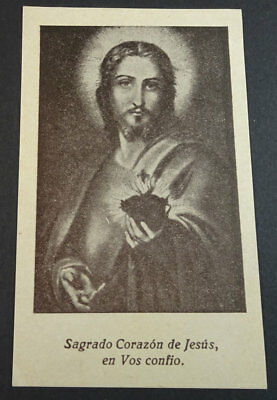Old Blessed Sacred Heart Of Jesus Holy Card Andachtsbild Santini Santino  Cc2171