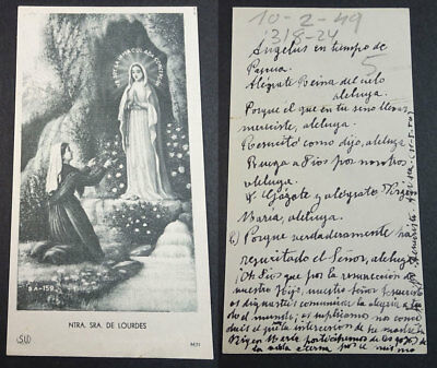 Old Blessed Our Lady Of Lourdes Holy Card Andachtsbild Santini Santino  Cc2172