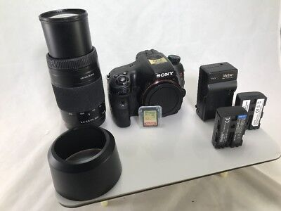 Sony Alpha a65 SLT-A65 24.3MP DSLR Camera with 75-300mm lens and 32GB SD