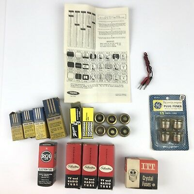 Lot of Misc Vintage Electronic Tubes & Fuses