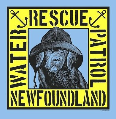 SALE NU! Water Rescue Patrol NEWFOUNDLAND DOG M. TEE- Newfie Dog Rescue Project