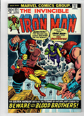 IRON MAN #55 - Grade 7.0 - First appearance of THANOS & DRAX!!