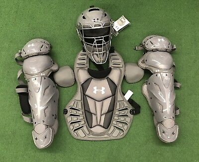 Under Armour Converge Pro Youth Baseball Catchers Gear Black