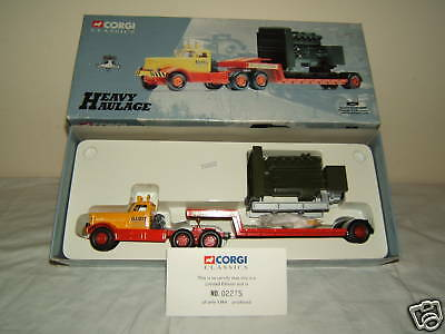 "CORGI CLASSICS MODEL No.55501   ""ELIOTTS "" DIAMOND 'T'  & LOW LOADER     MIB"