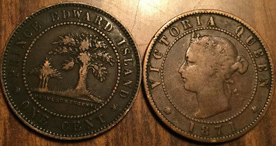 1871 Pei Large 1 Cent Coin Penny G+ Buy 1 Or More Its Free Shipping!