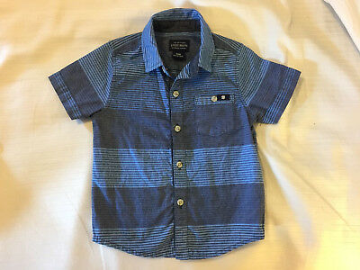 Lucky Brand Baby Boy's Shirt 18 Months Blue Striped Button Down