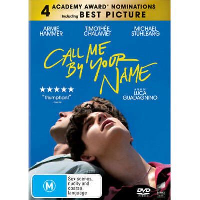 Call Me By Your Name NEW DVD (Region 4 Australia)