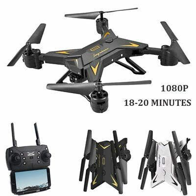 New Drone RC Helicopter Foldable WIFI FPV 5MP 6-Axis Aircraft HD 1080P - KY601S+