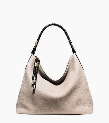 87557aab6bef Michael Kors Collections Skorpios Vanilla Leather Large Shoulder Bag  795