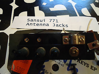Sansui 771 Stereo Receiver Parting Out Antenna Jacks