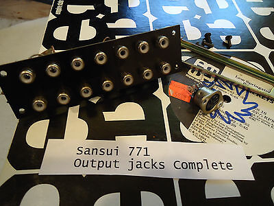 Sansui 771 Stereo Receiver Parting Out Output Jacks Complete
