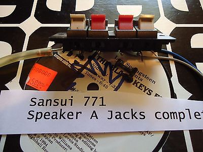 "Sansui 771 Stereo Receiver Parting Out Speaker ""A"" Output Jacks"