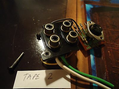 Pioneer SX-850 Stereo Receiver Parting Out Tape 2  RCA Jacks +DIN Plug