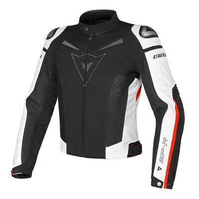 Dainese Super Speed Black White Red Tex Motorcycle Jacket - New! Free P&P!