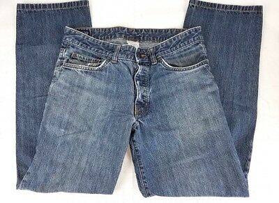 PATAGONIA Denim Co Mens Jeans Blue 32 x 30 Boot Cut Cotton Button Fly