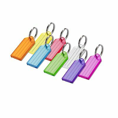 Lucky Line Key Tag with Split Ring; 100 Per Box; Assorted Colors (10400)