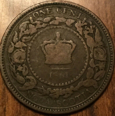 1861 Nova Scotia Large 1 Cent Coin Penny