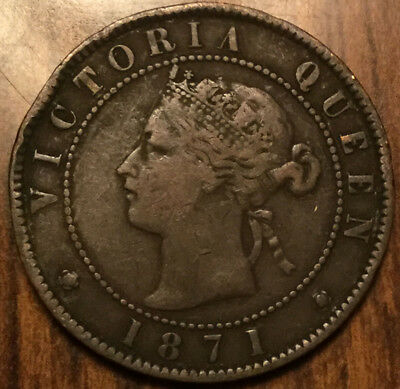 1871 Pei Large 1 Cent Coin Penny