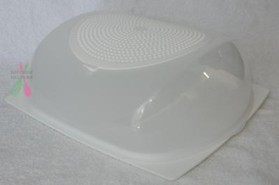 Tupperware Cheese Smart / Keeper Small - White - Great for all cheses - NEW