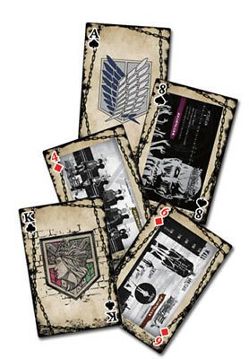 ATTACK ON TITAN PLAYING CARD DECK 51582 BRAND NEW 52 CARDS