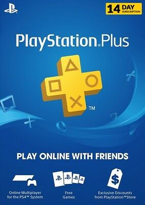 Playstation Plus 14 Day Trial Playstation PS PSN  [UK] - Instant Dispatch