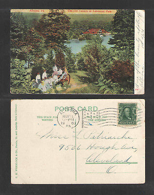 1907 Altoona Pa The Old Cannon At Lakemont Park Postcard