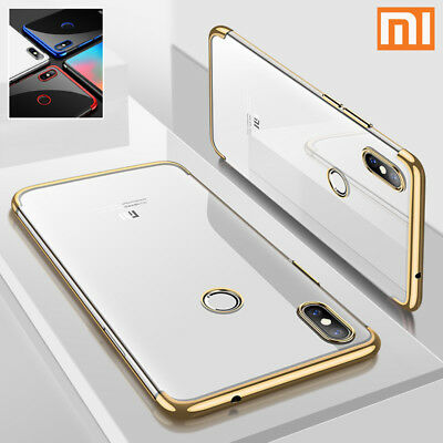 For Xiaomi Mobiles Luxury Crystal Electroplate Silicone TPU Soft Back Case Cover