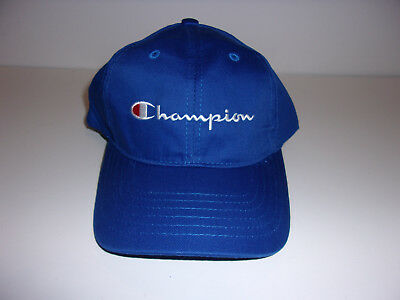 b0609965bae Rare Vintage Champion Snapback Hat New Old Stock Blue Cap Stitched   Sewn