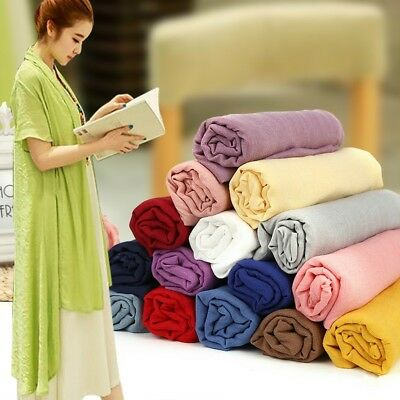 Cotton Linen Fabric DIY Organic Material Natural Craft Dress Curtain Clothes