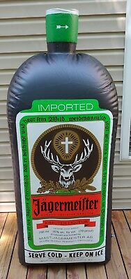 Jagermeister Inflatable Blow Up Display Bottle Heavy Vinyl - Approx 6 Feet Tall