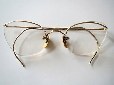 ANTIQUE VINTAGE 12 KT Gold Filled Wire Rim Frame Glasses - $16.99 ...