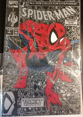 Spider-Man 1 Torment 1990 signed by Todd McFarlane