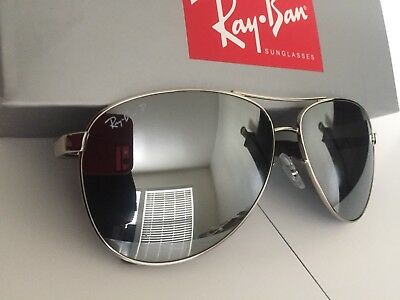 85211f19ed7 RAY BAN RB8313 Carbon Fiber Aviator Silver Polarized -  82.76