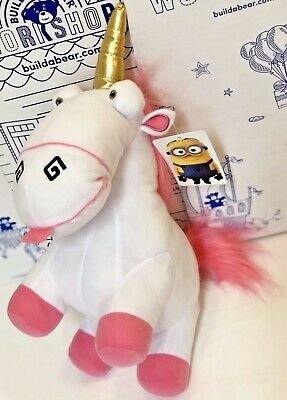 "New Despicable Me Minion Made Fluffy Unicorn Universal Plush TOY FACTORY 13"" Dol"