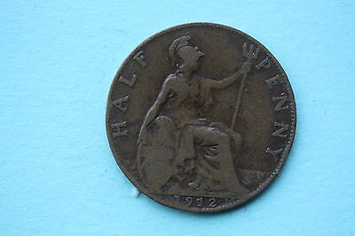 George V Halfpenny 1912 British 20th century coin