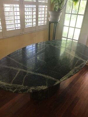 Green Marble Dinning Room Kitchen Table