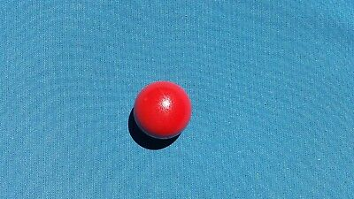 Pallino (Red) Ball-Official Solid Wood Target Bocce  Ball- Made In Italy