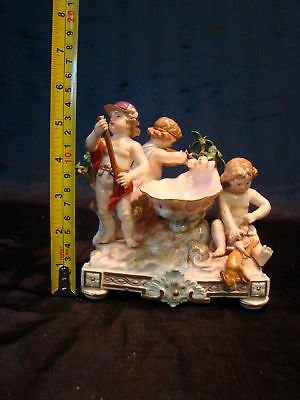 Amazing 19th Century Antique Meissen Cherub Figures