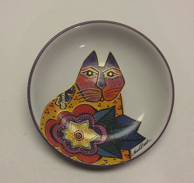 Laurel Burch Carlotta Cat ceramic saucer / dish